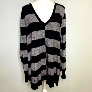 Lane Bryant Color Block Sweater Black Size 22